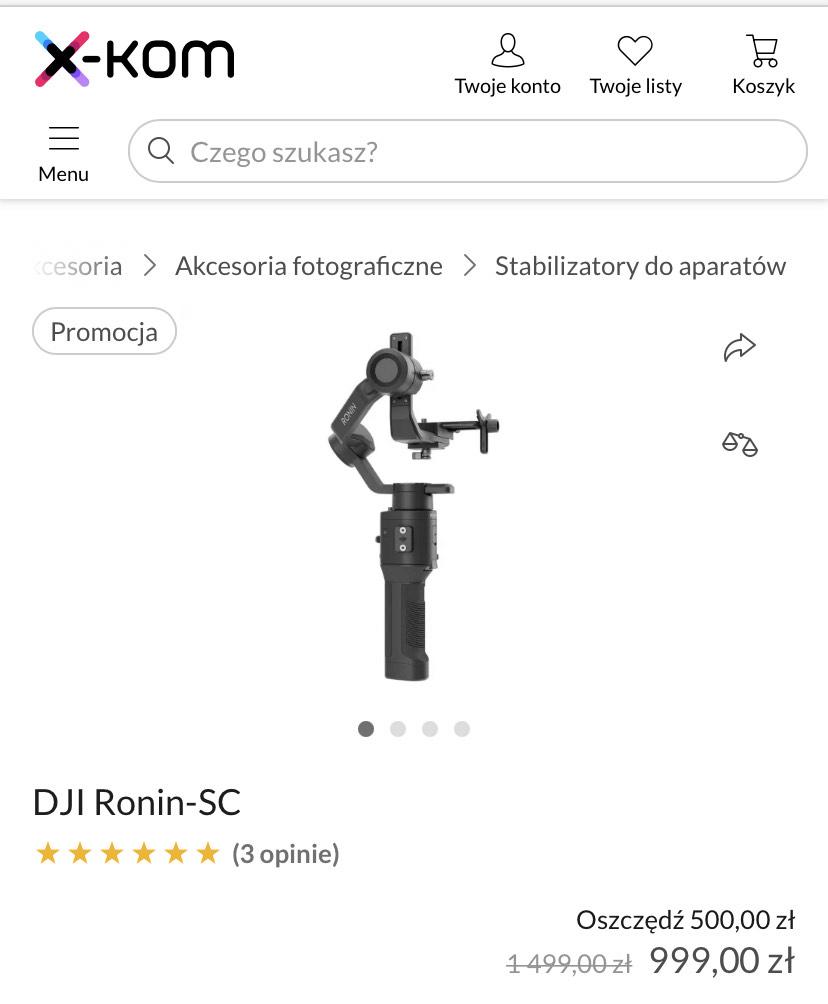 DJI Ronin-SC w promocyjnej cenie