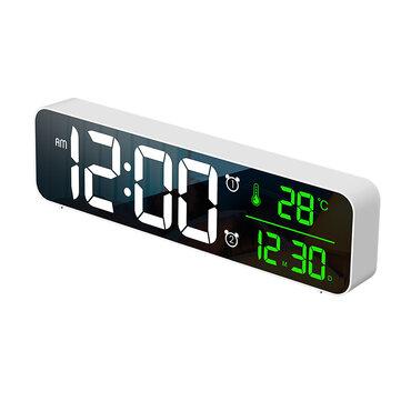 Budzik Termometr Loskii USB LED 3D Temperatura Data Wyświetlacz LED - $13.99 + $0.14