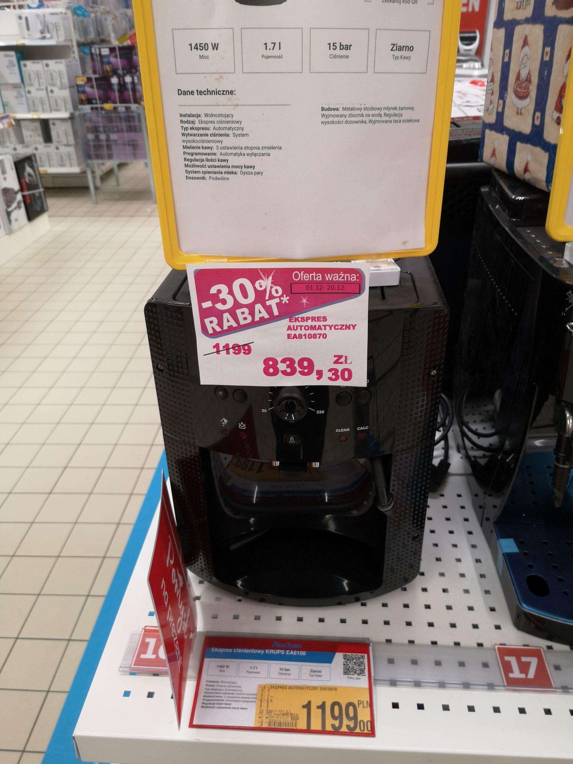 Ekspres automatyczny Krups 8108 - Auchan Jubilerska