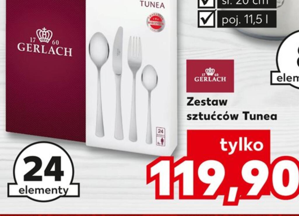 W Kaufland promocja na komplet sztućców Gerlach Tunea - 24 elementy
