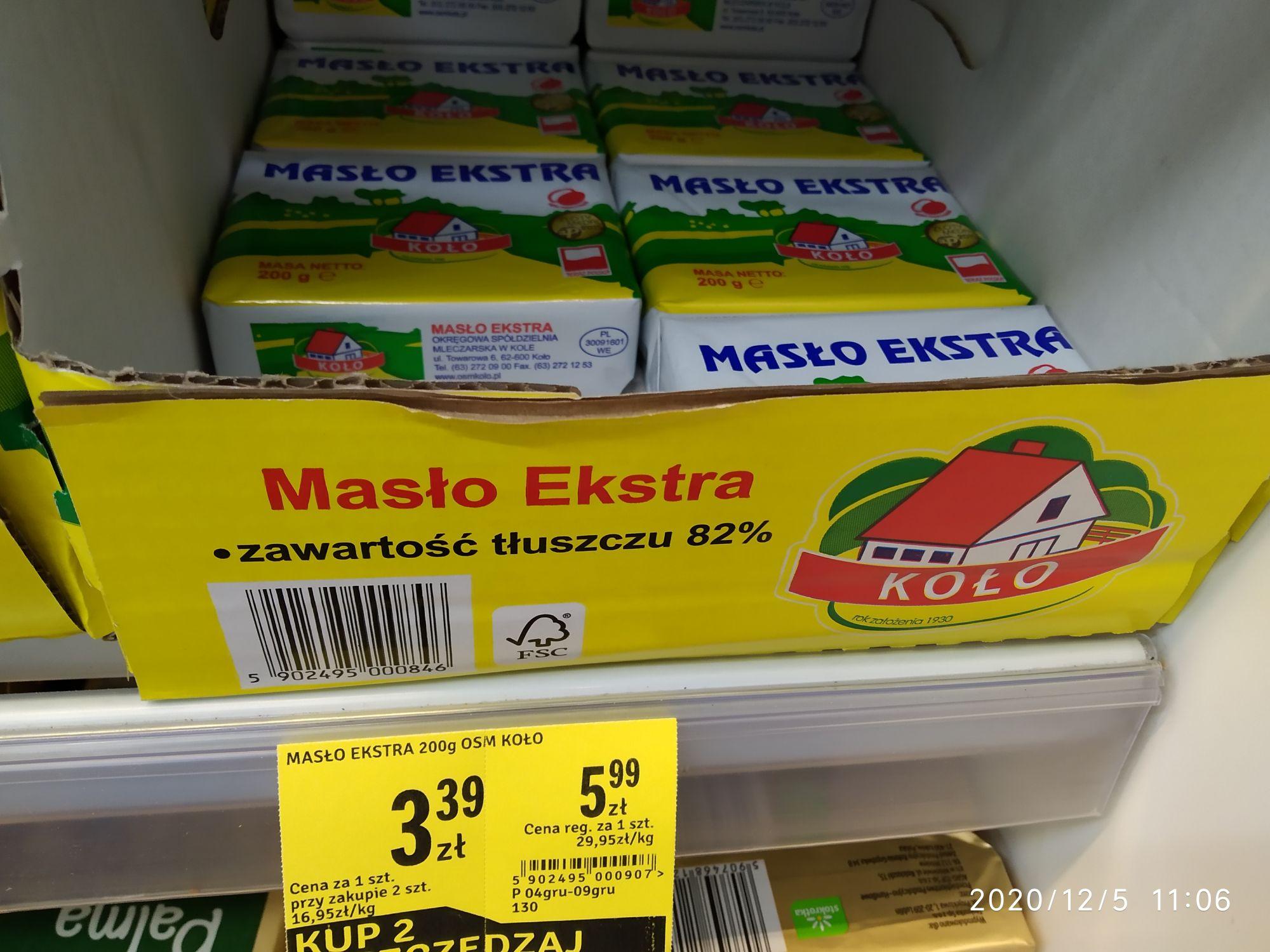 Stokrotka - Masło ekstra Koło przy zakupie dwóch sztuk