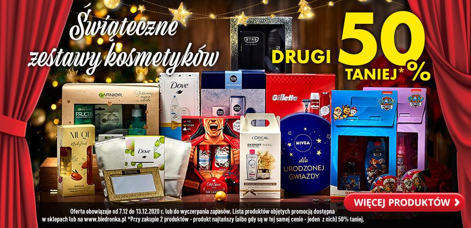 Świąteczne Kosmetyki – DRUGI ZESTAW 50% taniej - Biedronka
