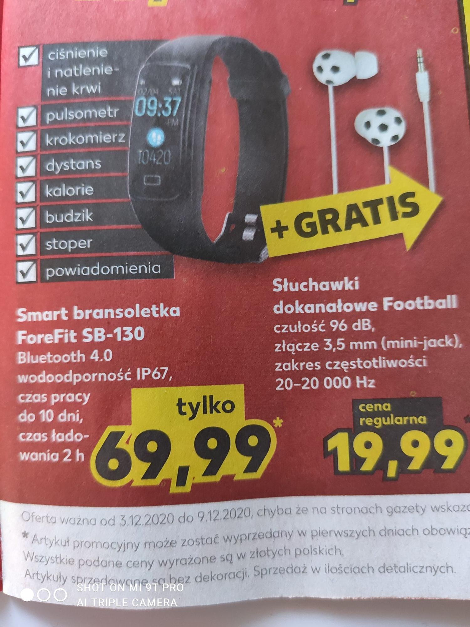 Smart bransoletka ForeFit SB-130 + Gratis KAUFLAND