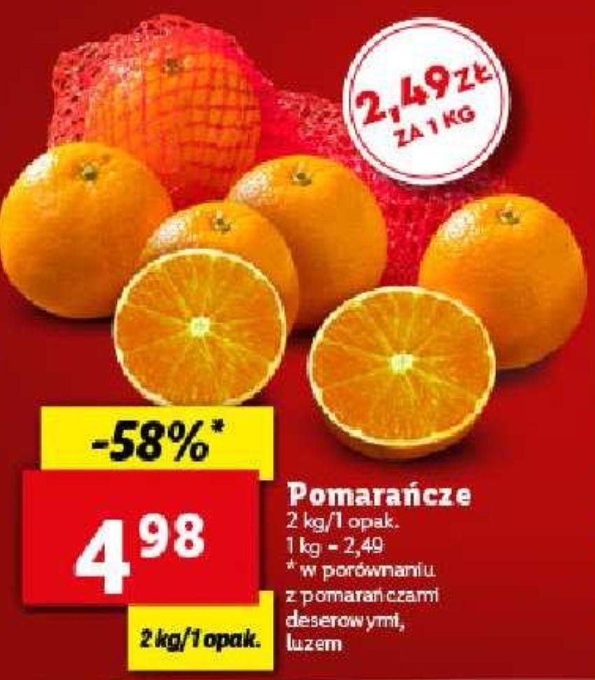 Pomarańcze w Lidlu 4,98 zł za 2 kg, czyli 2,49 zł/kg