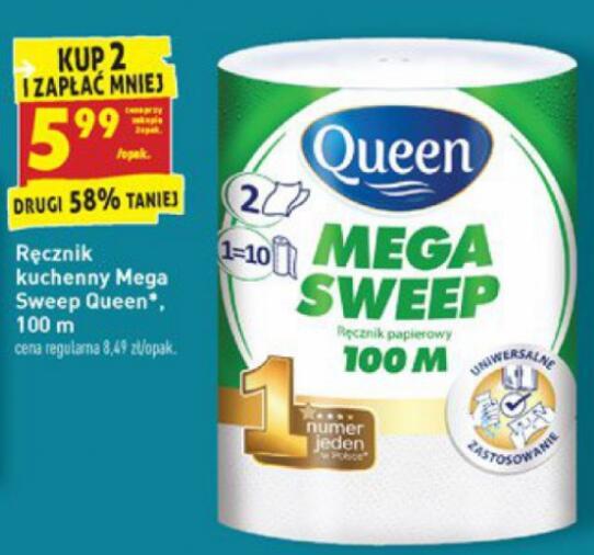 Ręcznik kuchenny Mega Sweep Queen 100m 5,99zł przy zakupie 2 - Biedronka