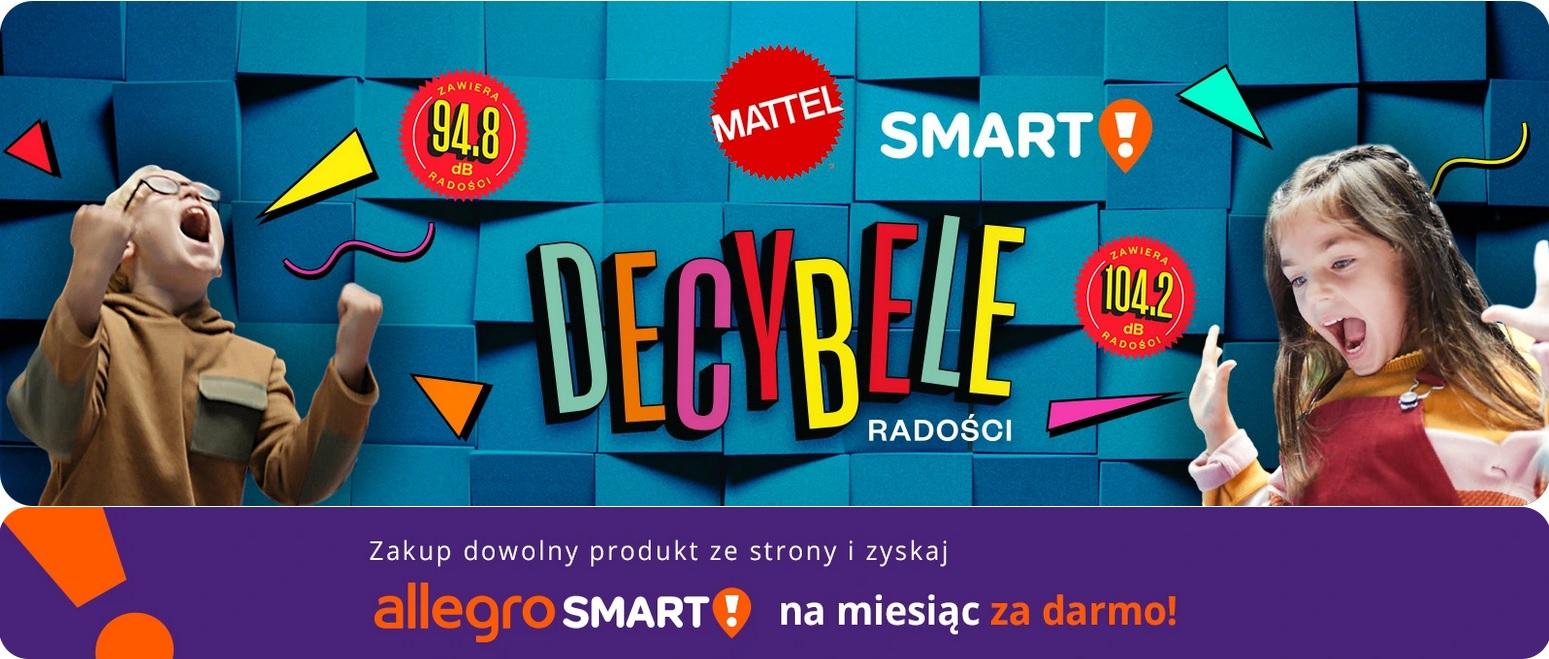 Decybele Radości, czyli miesiąc Allegro Smart! za zakup zabawki firmy Mattel @ Allegro