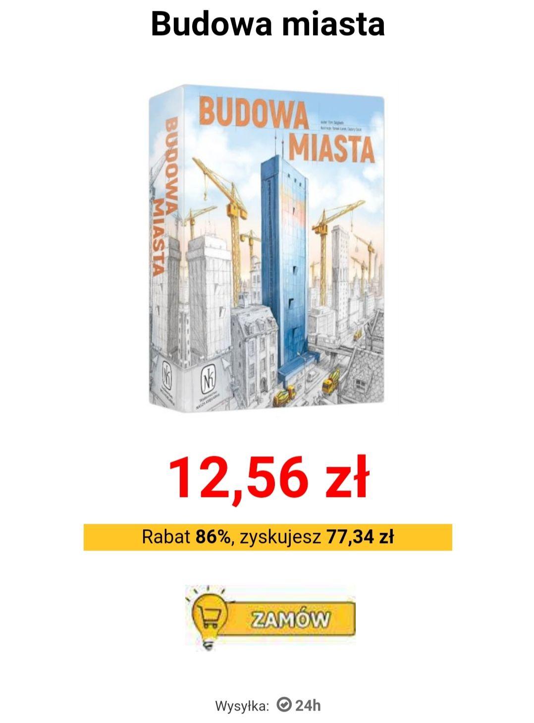 Budowa miasta gra planszowa 12,56 PLN.