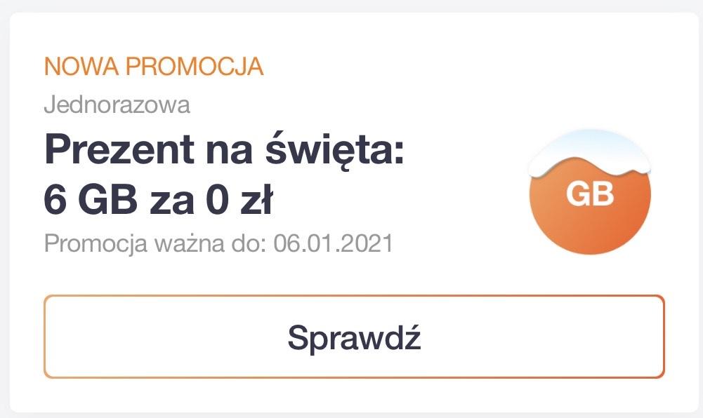 Orange Flex prezent na święta: 6 GB za 0 zł