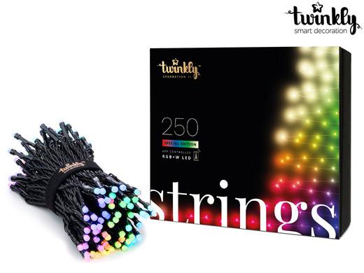 Ibood.pl lampki świąteczne Twinkly 250 RGB+W (lub RGB), 2. generacja + opcjonalny Music Dongle