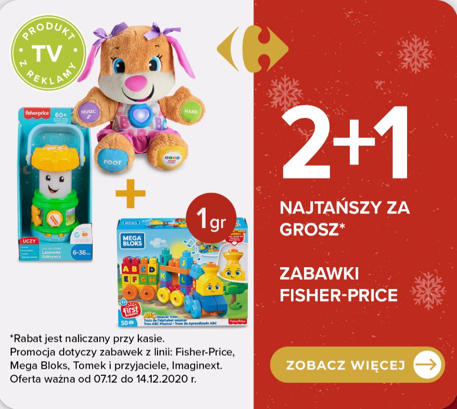2+1 za grosz zabawki Fisher-Price, Mega Bloks, Tomek i przyjaciele, Imaginext