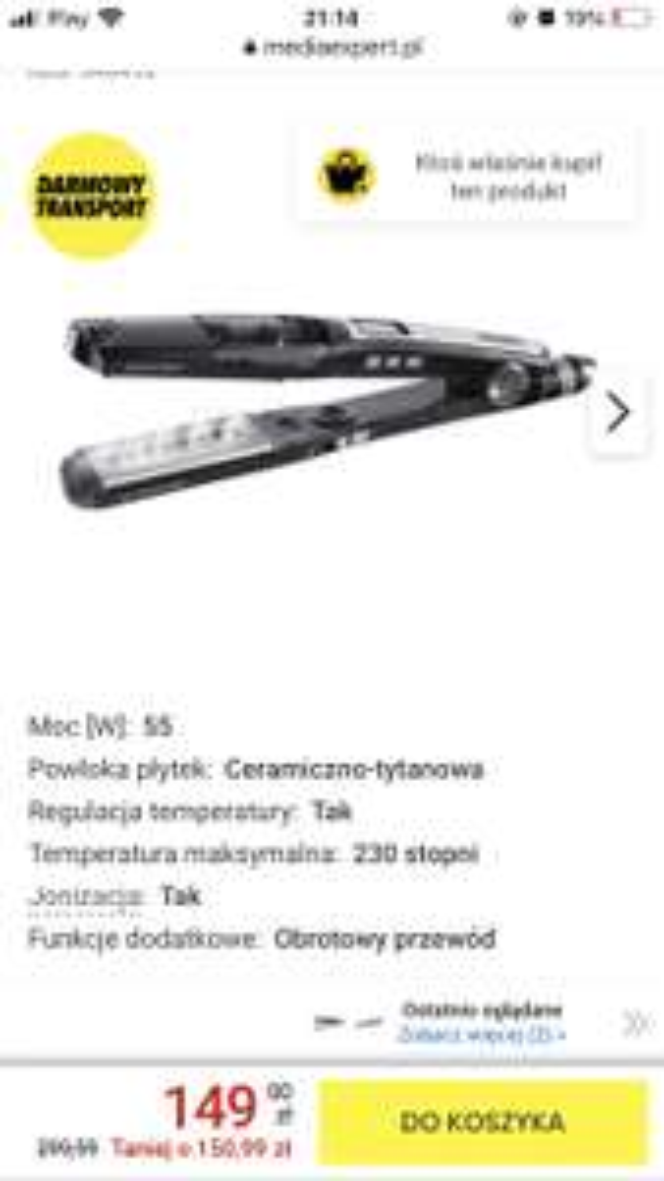 Prostownica BABYLISS ST95BPE