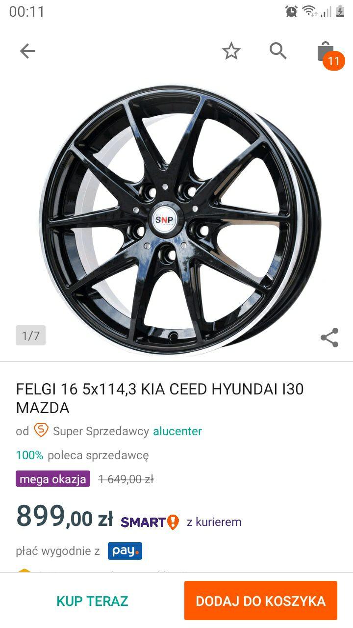 Felgi 16, 5x114,3. Kia Ceed,Mazda,Hyundai i30