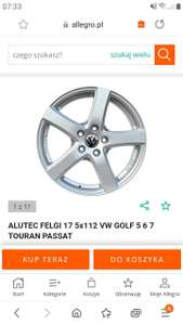 Felgi 17. 5x112, Vw Golf 5,6,7.Touran,Passat