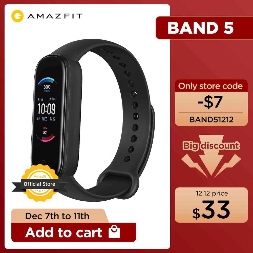 Amazfit Band 5 $33 - nie mylić z Mi Band 5