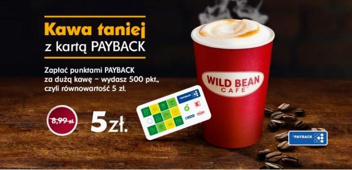 Duża kawa 400ml za równowartość 5 zł przy płatności punktami(500 pkt) Payback na stacjach paliw BP
