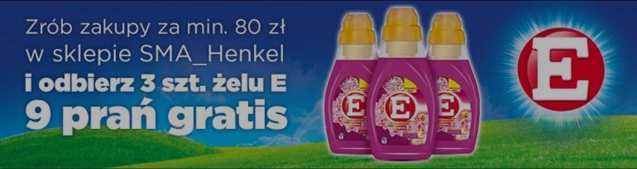 Zrób zakupy za min. 80zł w oficjalnym sklepie Henkel, a otrzymasz 3x żel do prania E: 9 prań = 27 prań gratis @ Allegro