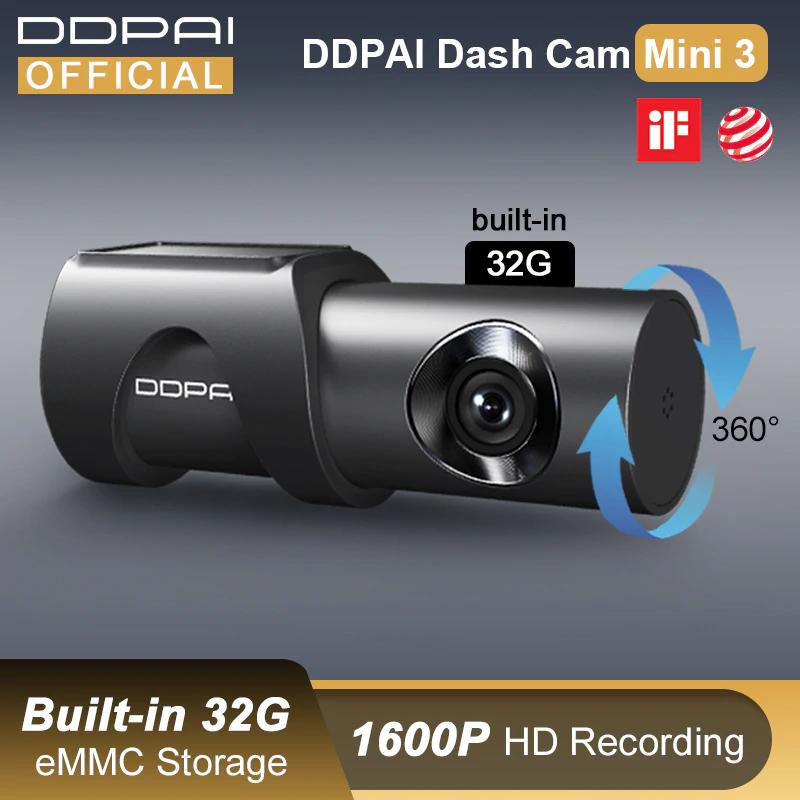 DDPAI Dash Cam Mini 3, 2K, 32GB, z polskiego magazynu