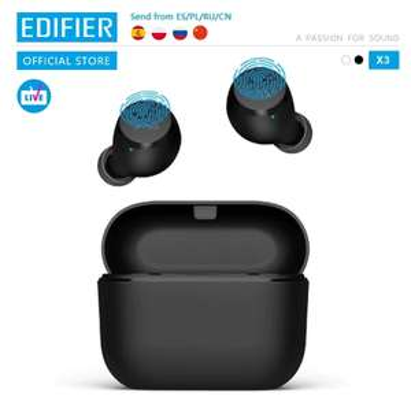 Słuchawki dokanałowe EDIFIER X3 TWS z Polski (lub EDIFIER NB2 za $60.49) @AliExpress