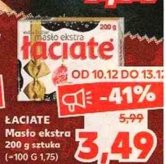 Masło łaciate 3,49 w Kauflandzie