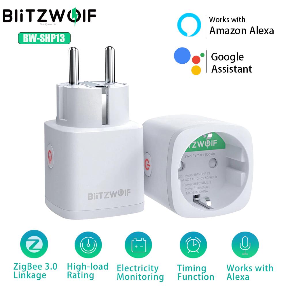 BlitzWolf inteligentne gniazdo Zigbee 3.0 wtyk UE