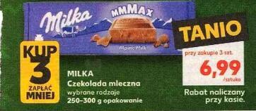 Czekolada Milka 250-300 g przy zakupie 3 szt. @Kaufland