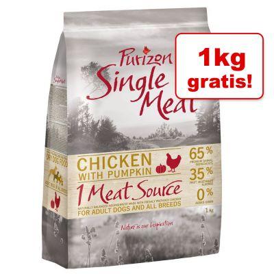 Dobrej jakości karma dla psów 1 + 1 kg gratis! Purizon Single Meat