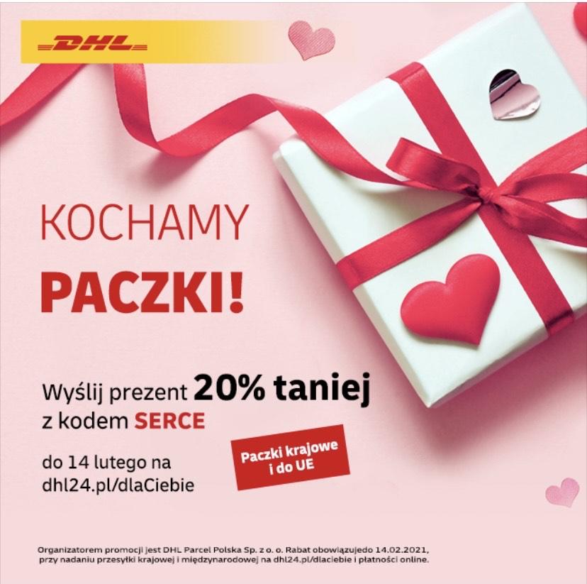 DHL - nadaj paczkę 20% taniej Polska i EU
