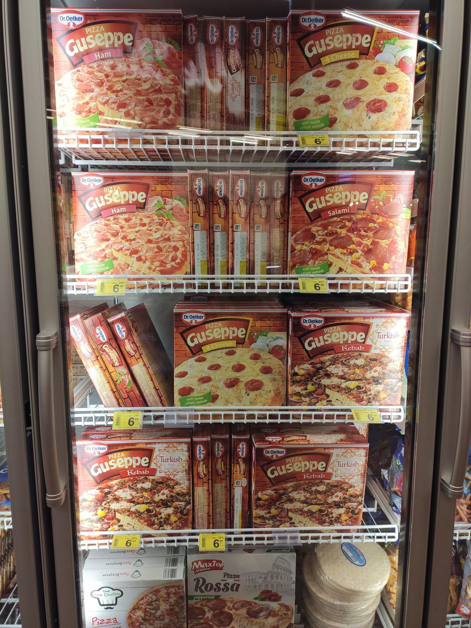 Pizza Guseppe 6.99 zł różne smaki Carrefour