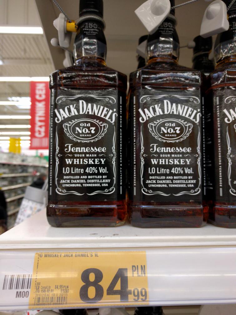 Jack Daniels 1l - 84,99zł - Auchan Kraków (Krokus)