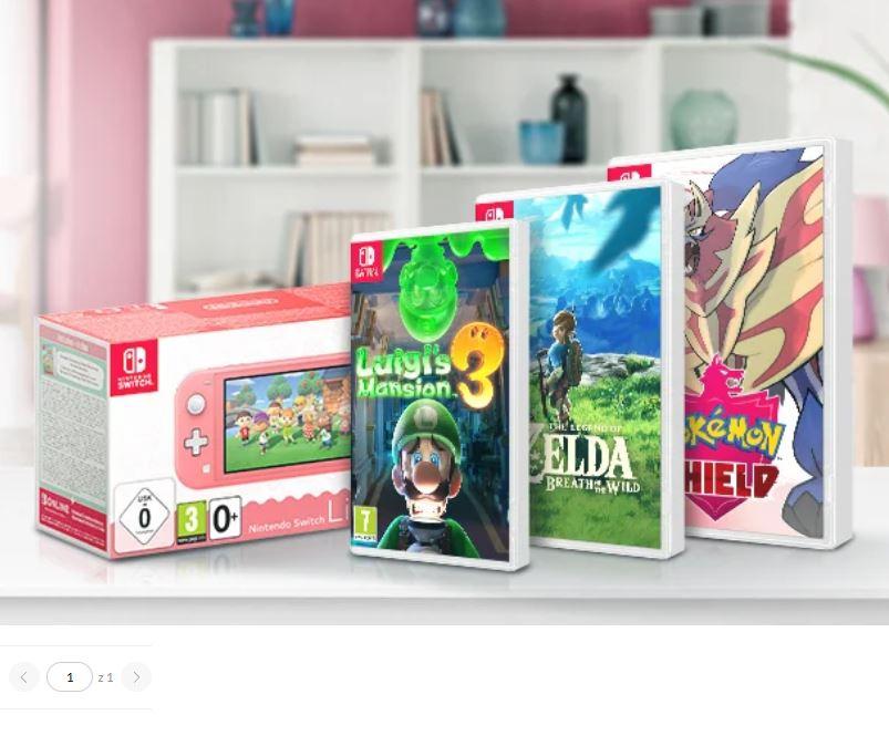 Promocja Nintendo (konsole i gry) z darmową dostawą przy zakupie w aplikacji mobilnej x-kom