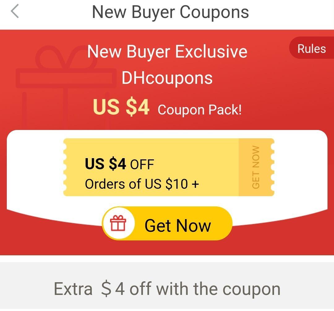 DHgate - kupon 4/10 USD dla nowych i tych co nic jeszcze nie kupowali