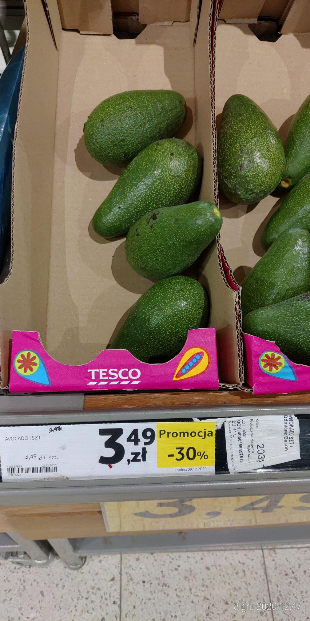 Avocado 3,49zł/1szt.@Tesco