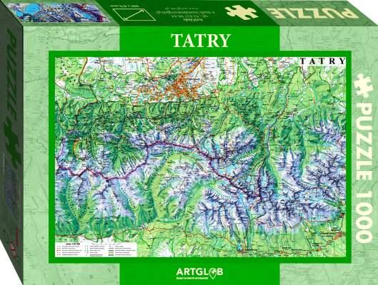 Puzzle 1000 Tatry mapa turystyczna 1:50 000 - Promocja na puzzle górskie, książki - do - 40%