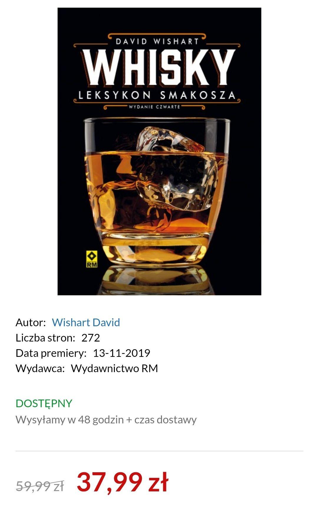 Whisky Leksykon smakosza wyd. 4 David Wishart