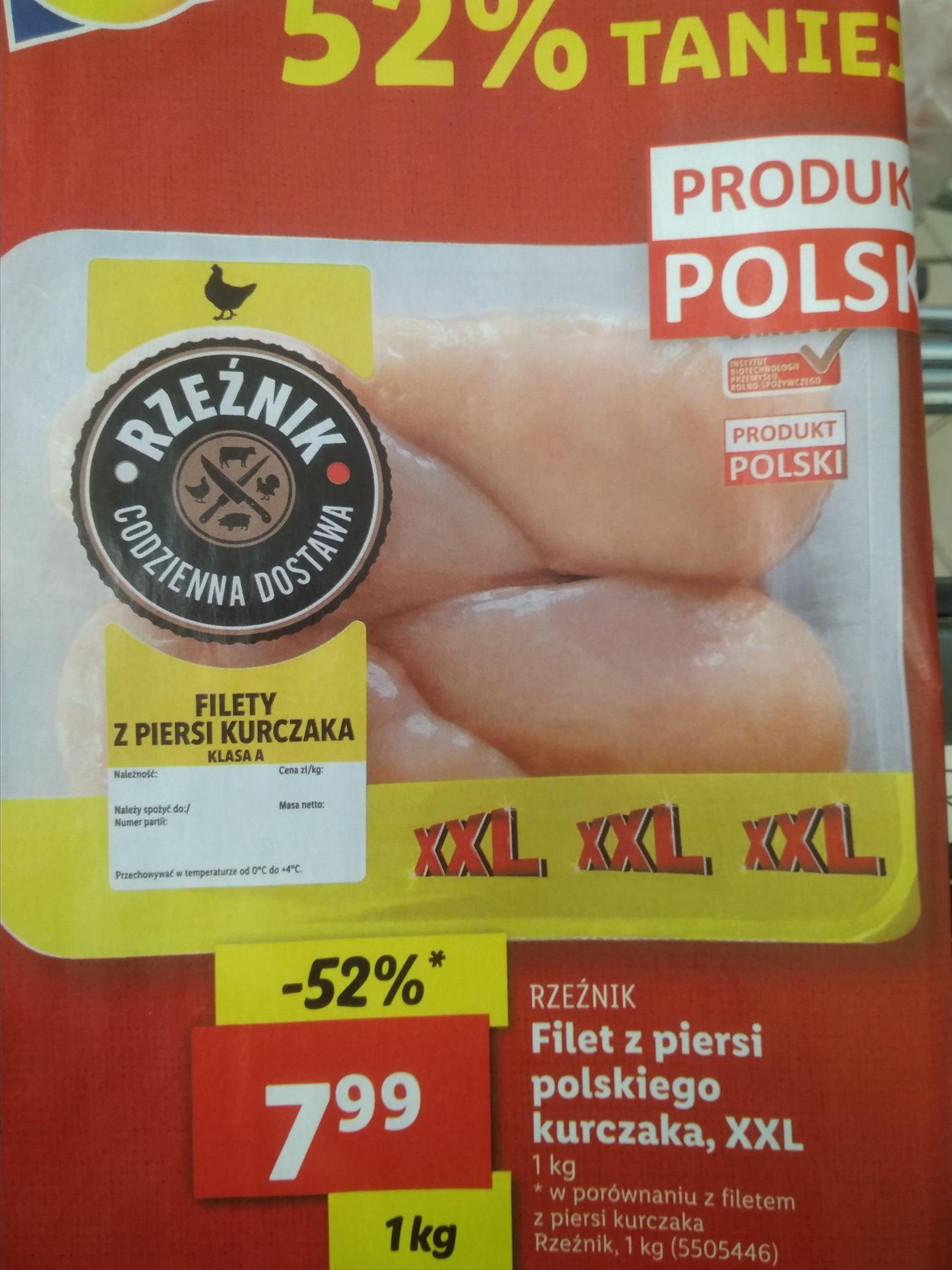 Filet z piersi z kurczaka 7.99 kg. Lidl.