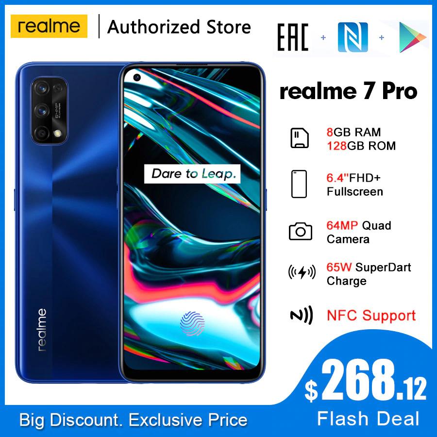 Realme 7 Pro NFC Global 6.4 'FHD + 8GB 128GB, SIlver i Blue (aliexpress) $268.12