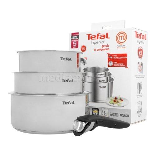 Zestaw garnków Tefal Ingenio Master Chef + pokrywki gratis (Kup wybrany produkt marki Tefal drugi produkt otrzymasz GRATIS)