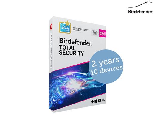 Bitdefender Total Security 2020 | 2 lata | 10 urządzeń