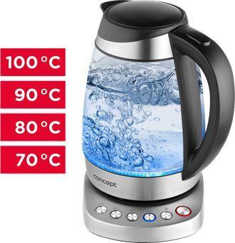 Czajnik z regulacją temperatury Concept RK4130, 2200W