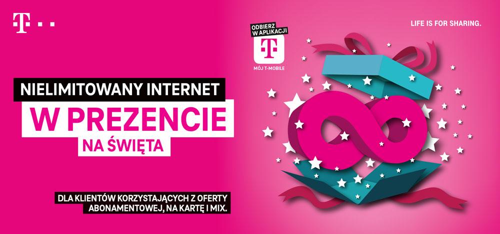 14 DNI NIELIMITOWANEGO INTERNETU W PREZENCIE od T-Mobile (do odbioru w aplikacji Mój T-Mobile aż do 04.01.2021)