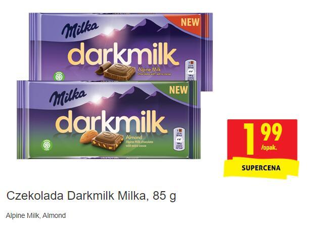Czekolada Milka Darkmilk za 1.99zł! - Biedronka