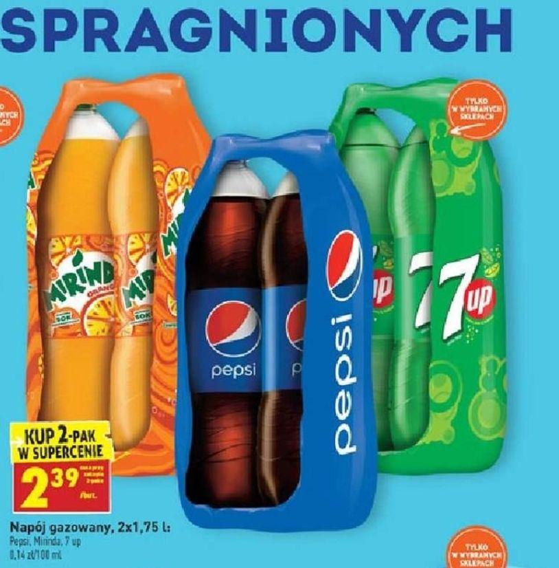 Pepsi 1,75l przy zakupie 2 sztuk za 2,39 zł/szt w Biedronce