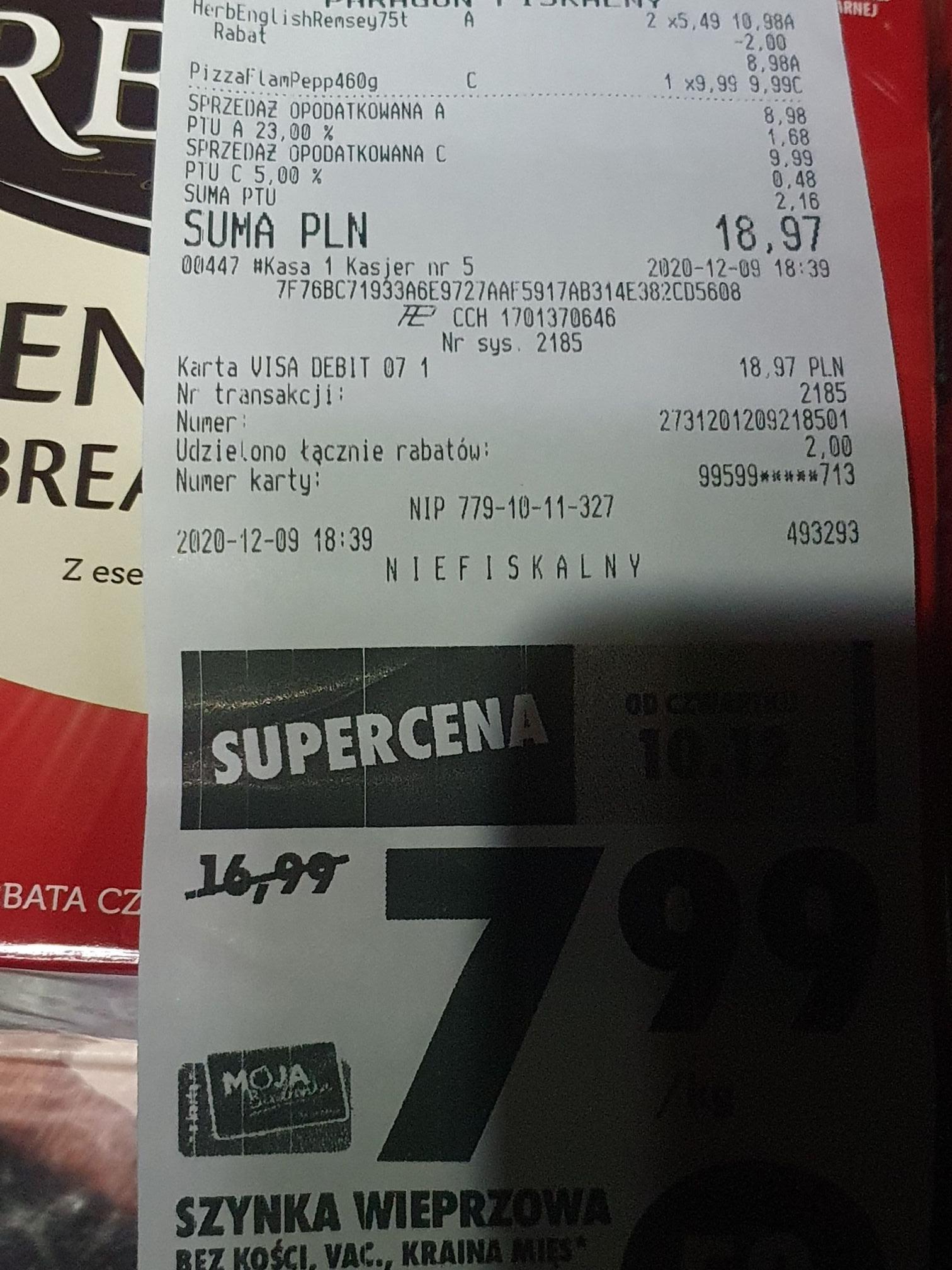 Herbata Remsey 75 torebek za 4.49 zł przy zakupie 2 op. Biedronka