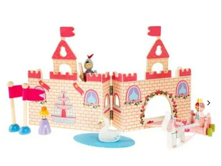 Zamek Jednorożców, klocki drewniane z figurkami