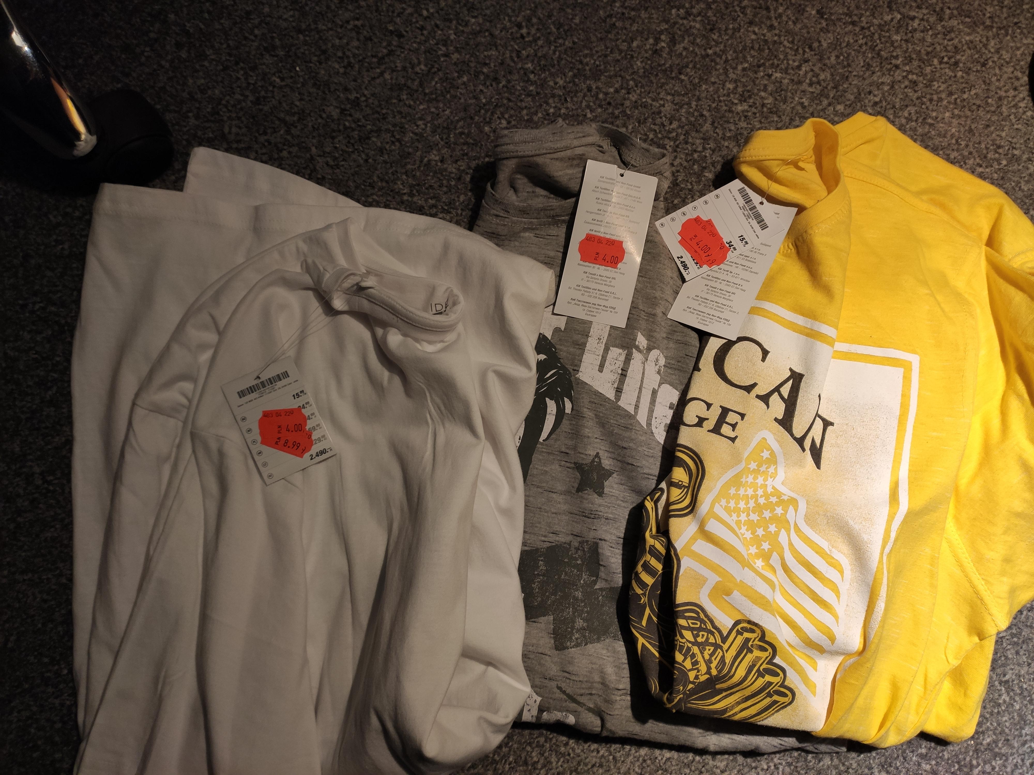 Promocje KiK Textil (Kurtki, Koszulki, Spodnie) Meskie Damskie