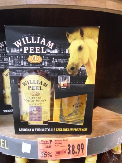 William Peel Whisky - Zestaw ze szklanka - Kaufland Rzeszów