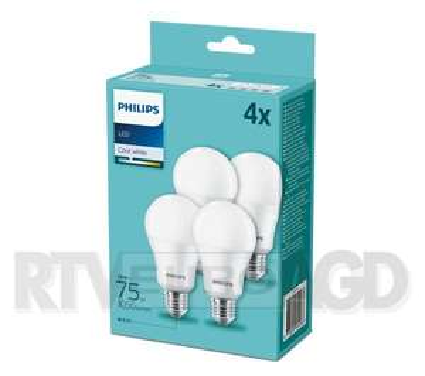 Philips LED 10 W (75 W) E27 4 szt.