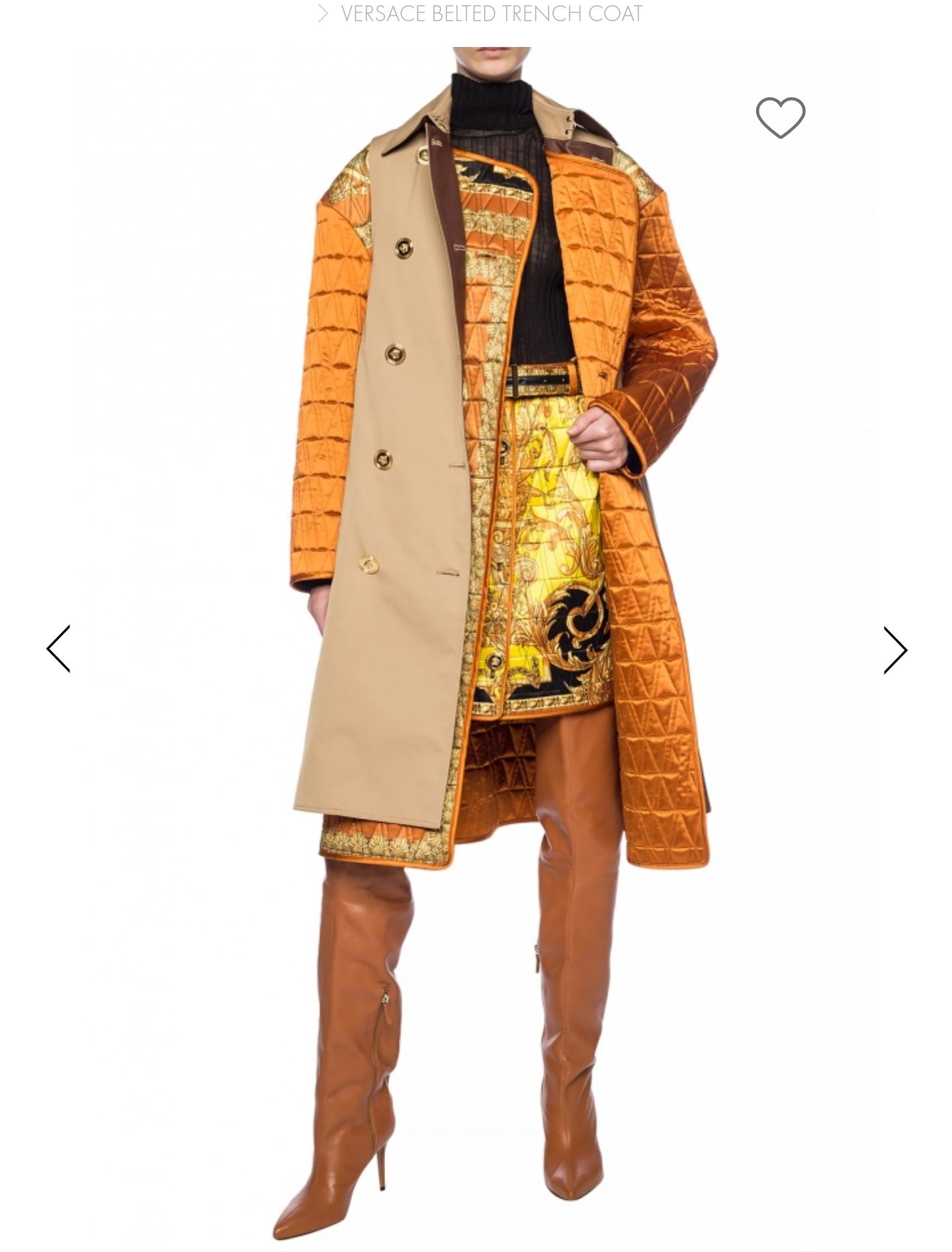 VITKAC : Płaszcz z paskiem - Versace
