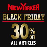 Kupon rabatowy -30% na cały asortyment tylko w Black Friday (28.11)  @ New Yorker