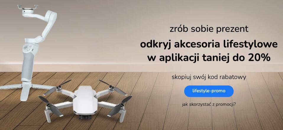 Promocja lifestylowa w aplikacji x-kom (np. dron Hubsan Zino za 1449 zł )